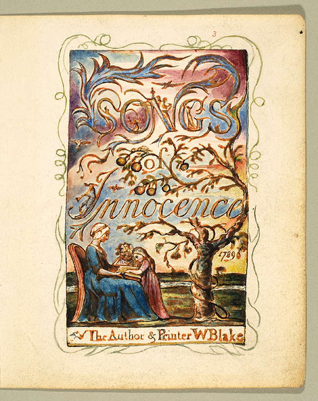 Fig 6. Blake, *Songs of Innocence* (London, 1789) Frontispiece © Wikimedia