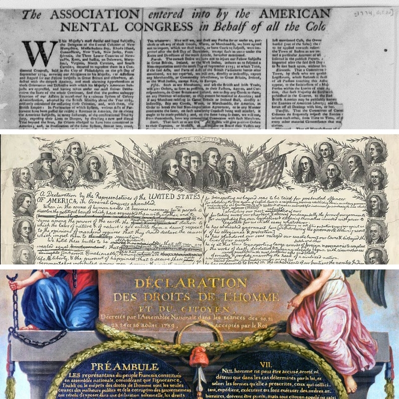 Three declarations of rights