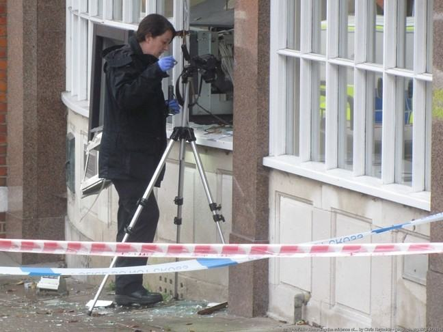 Evidence being collected