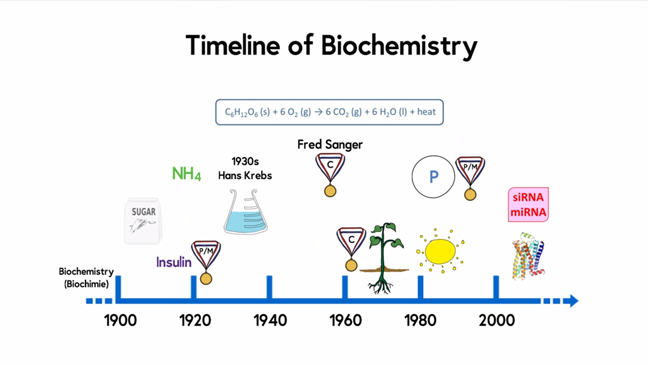 Timeline for biochemistry: metabolism and bioenergetics