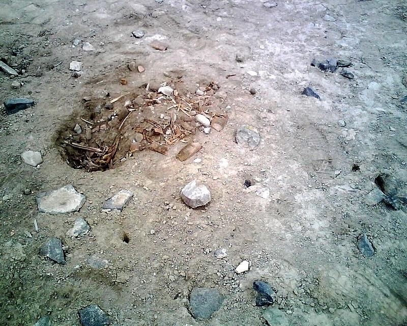 Huaquero holes