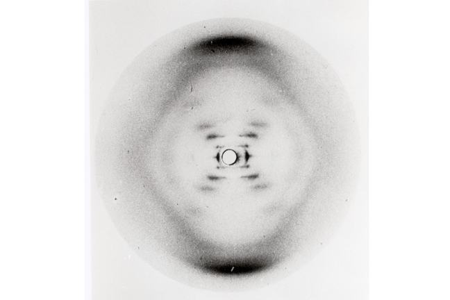 Photograph 51: X-ray diffraction image of the Double Helix