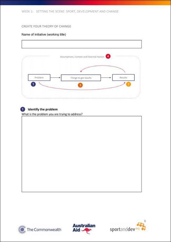 Screenshot of handout