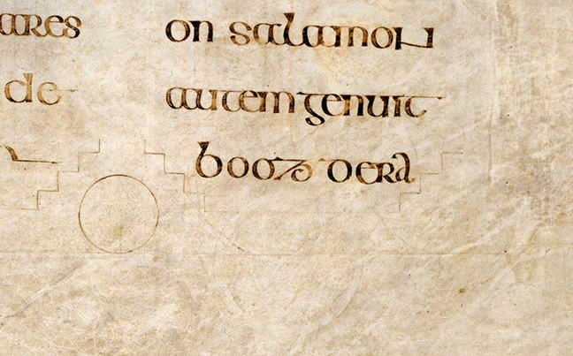 Figure 5, lines of text from the Book of Kells