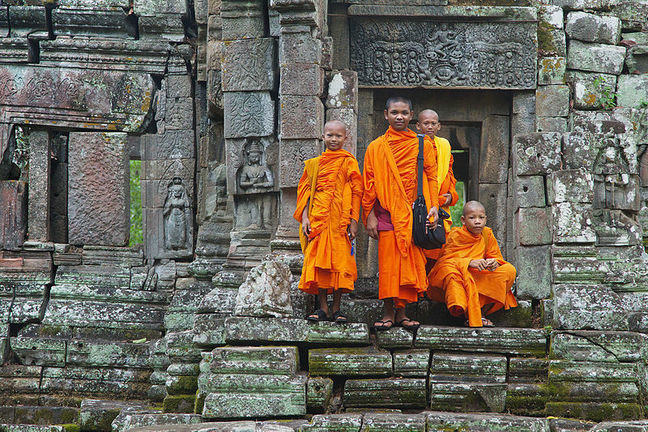 Young Cambodia Monks