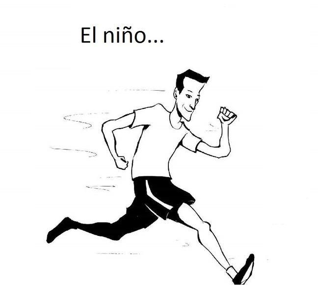 El niño corre