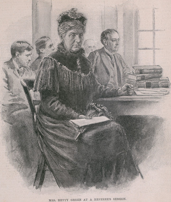 Illustration of Hetty Green.