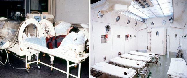 Hyperbaric oxygen therapy chambers.