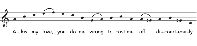 modern notation of Greensleeves
