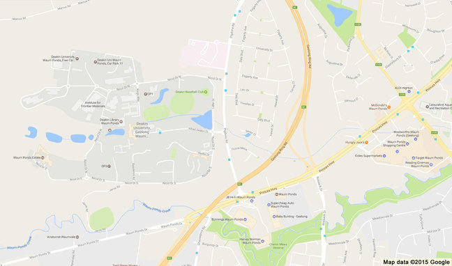 Map 2: Waurn Ponds closer view