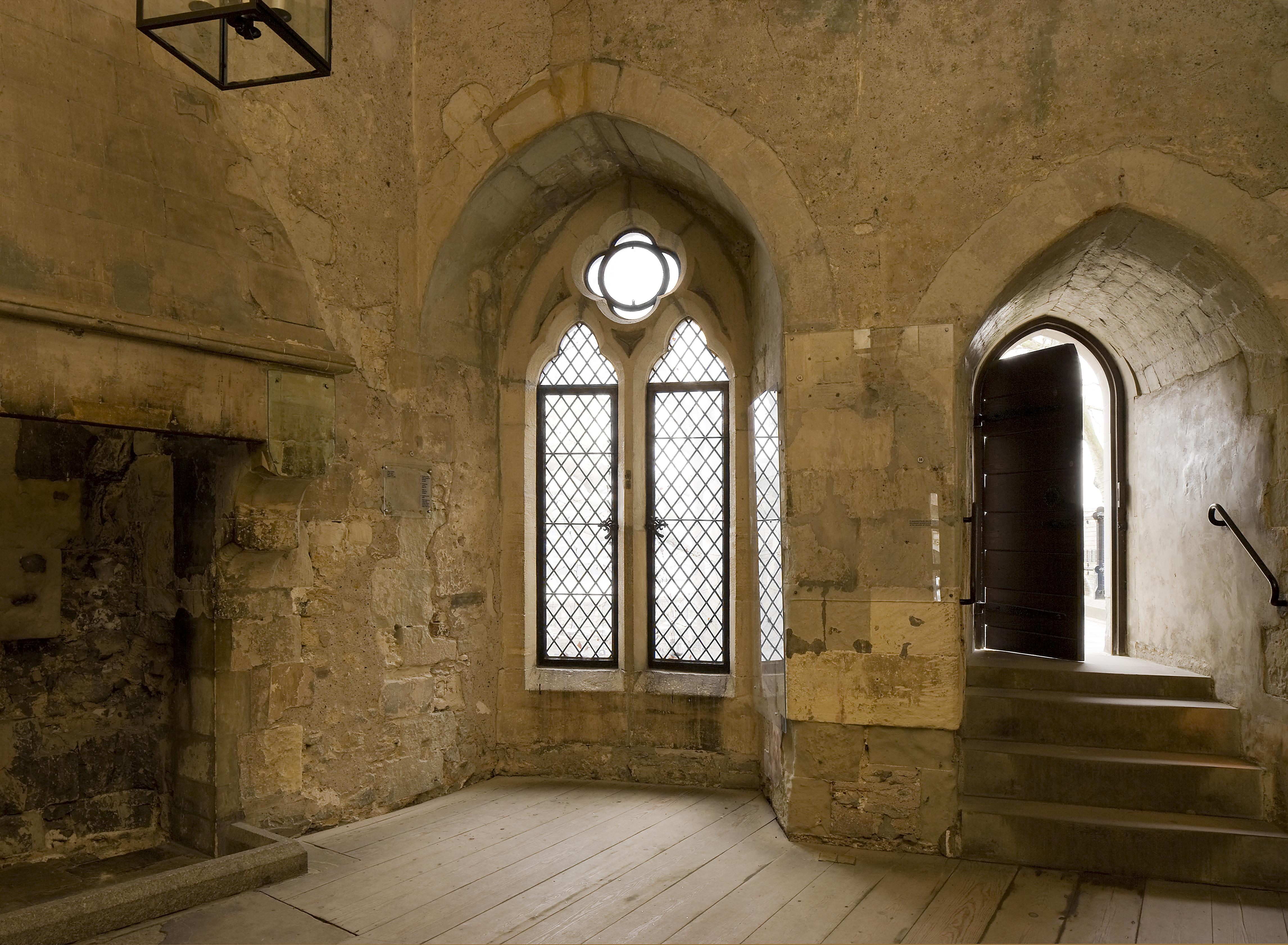 A photograph inside the Salt tower of on its windows ans doors