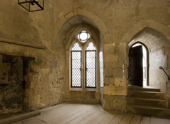 A photograph inside the Salt tower of on its windows ans doors