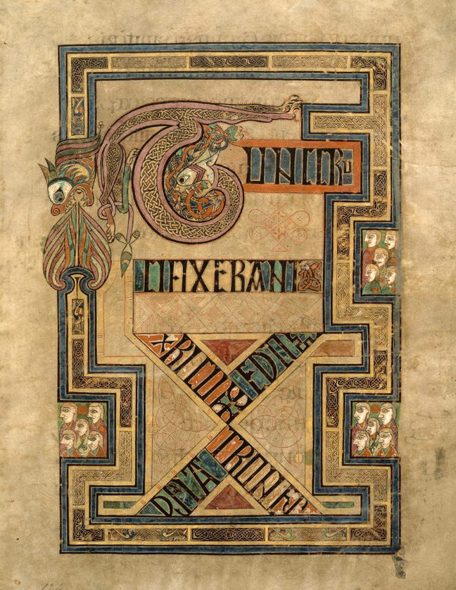 Figure 5. Folio 124r from the Book of Kells,