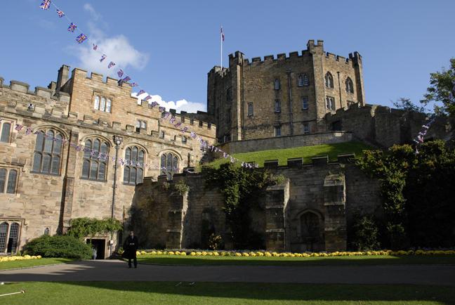 Photograph showing a view of Durham Castle