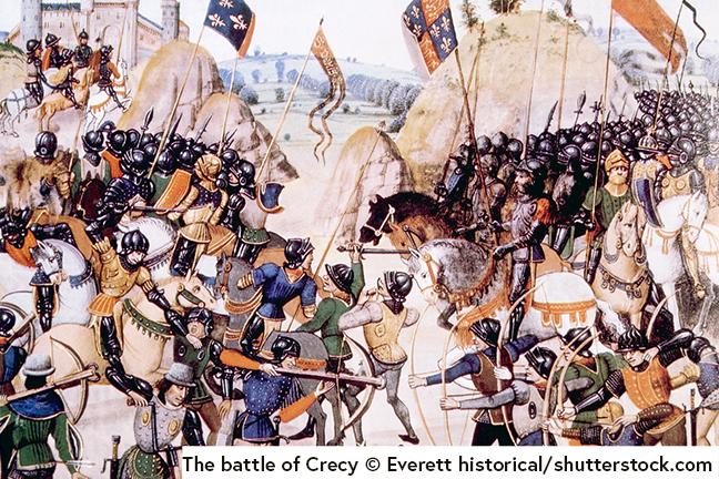 The battle of Crecy © Everett historical/shutterstock.com