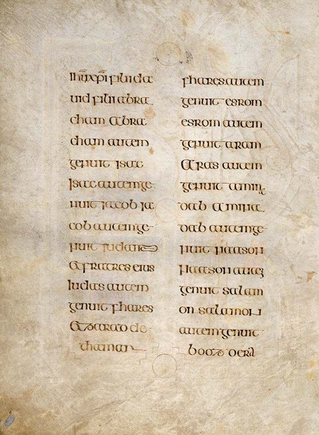Figure 4, lines of text from the Book of Kells