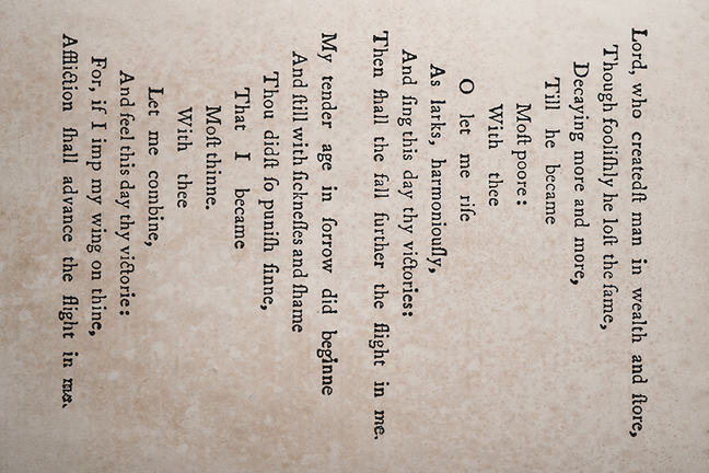 The original orientation and shape of the poem 'Easter Wings'