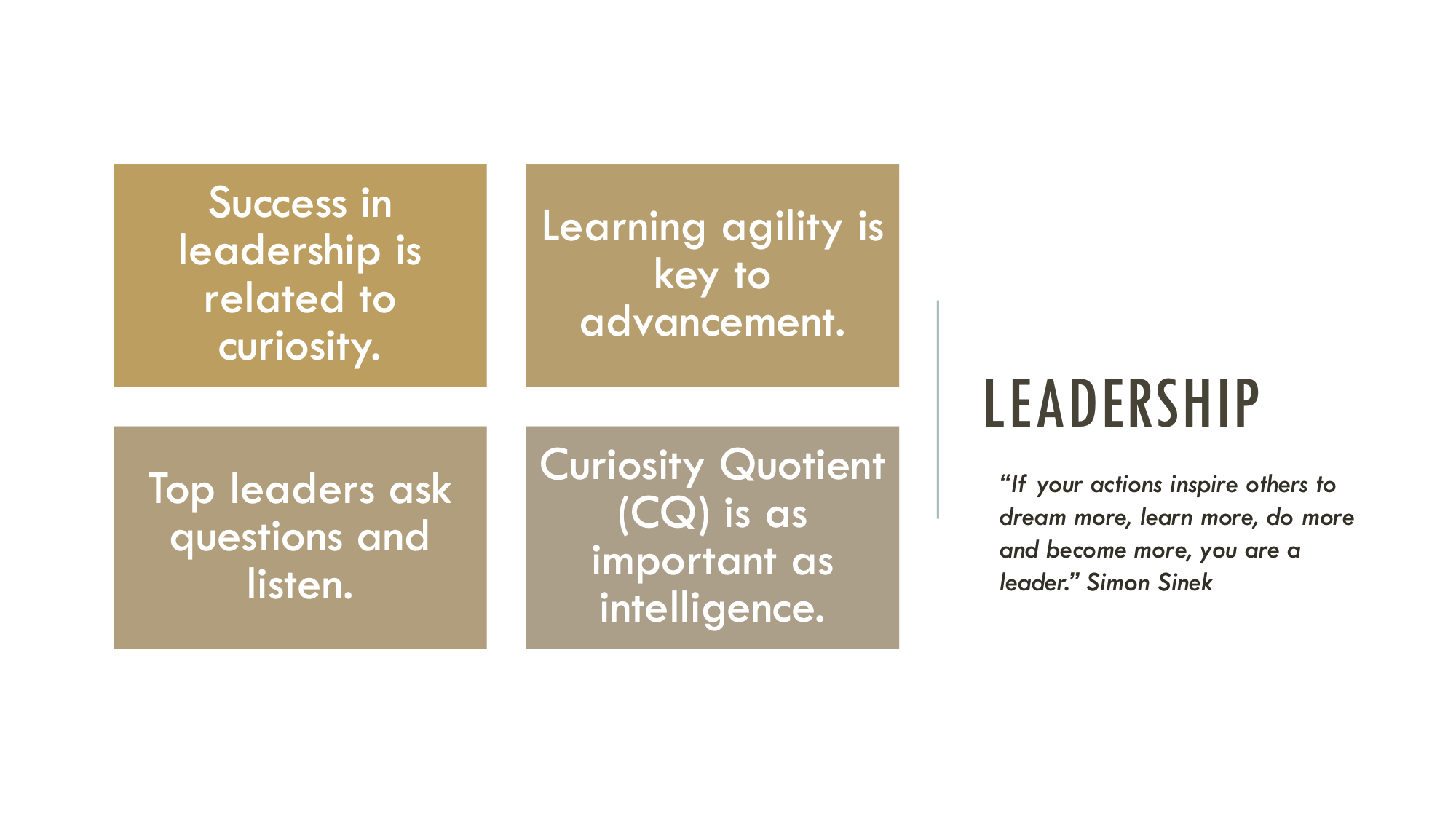 An infographic showing some key attributes of leadership