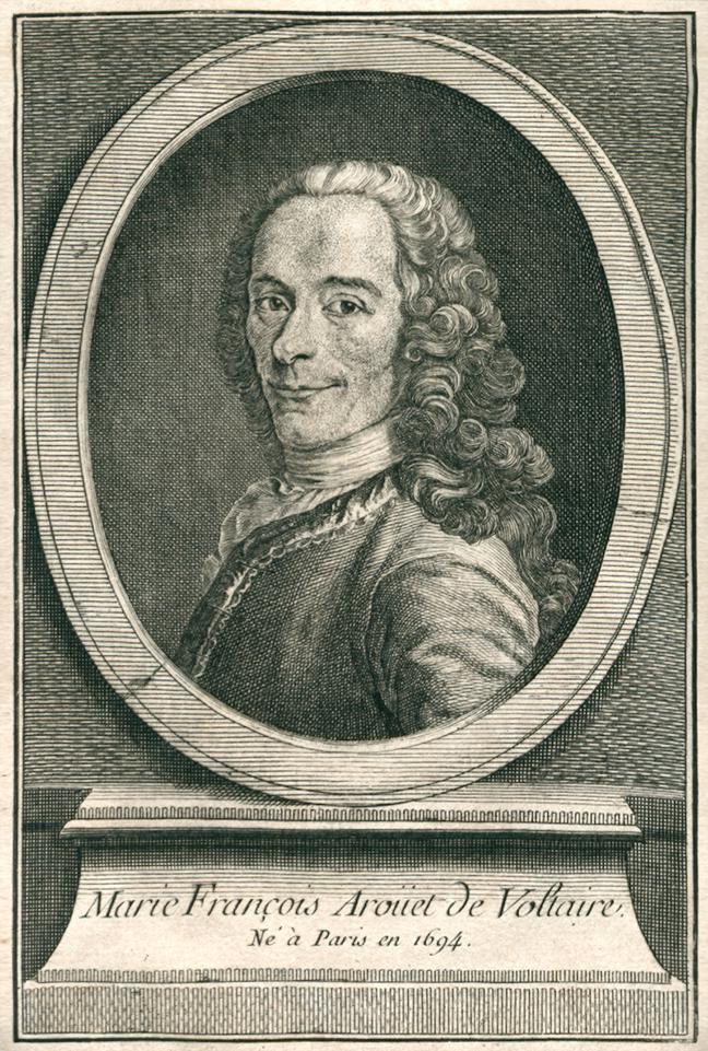 Portrait of Voltaire in *Élémens de la philosophie de Neuton*, 1738