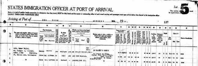passenger manifest document detail right side
