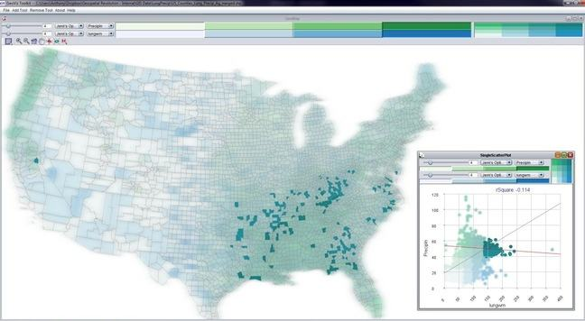 US map: high precipitation and hi lung cancer mortality