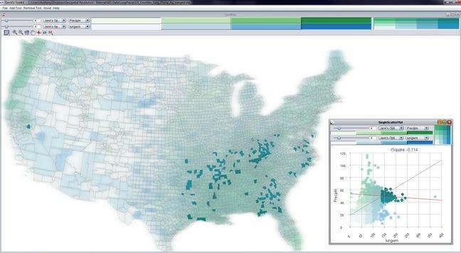 US map: high precipitation and hi lung cancer mortality