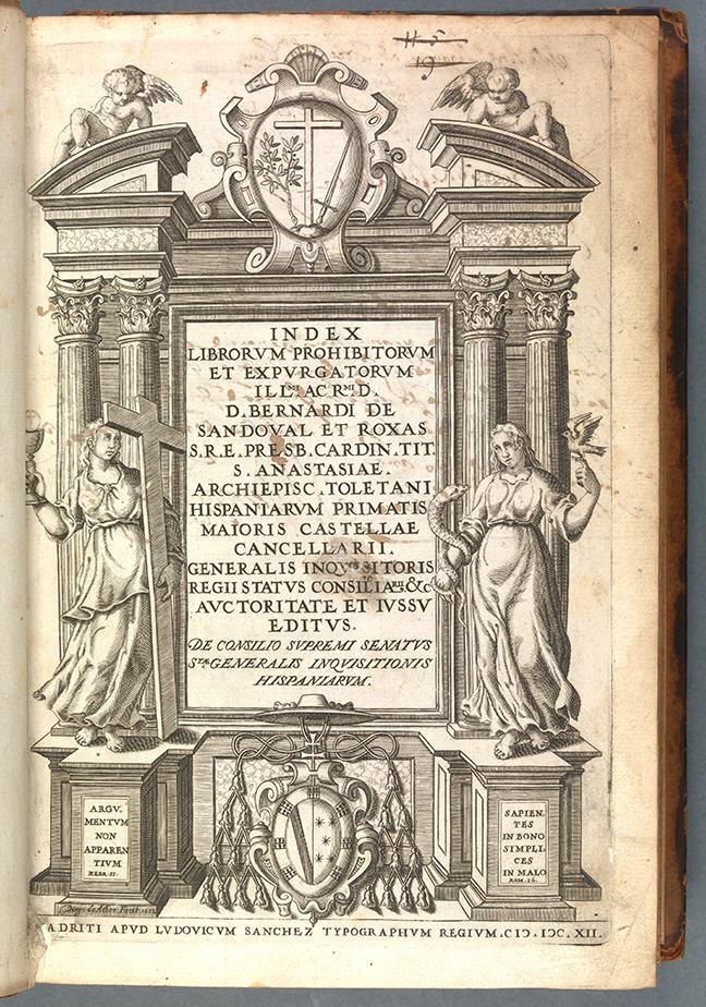 Index Librorum Expurgatorum… (Madrid, 1612), title page. © The Board of Trinity College Dublin