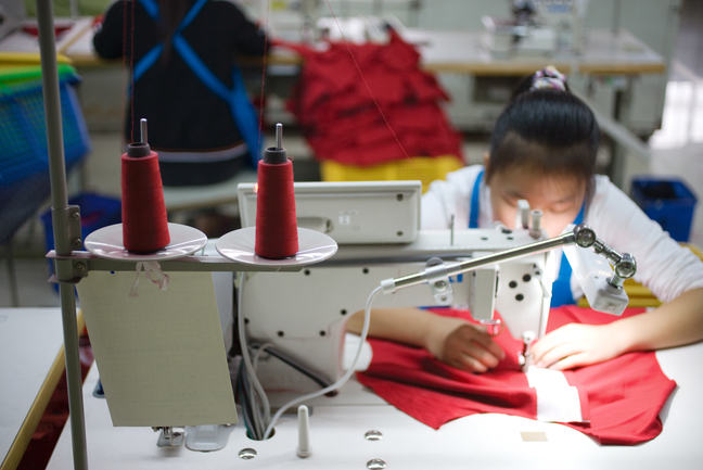 A worker who sews a garment