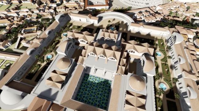 Digital recreation of the Baths of Trajan