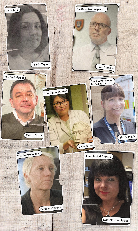 An image of our experts on the course: Nikki Taylor, Jon Cousins, Martin Evison, Nikki Taylor, Nicola Moyle, Caroline Wilkinson, Daniela Cacciabue and Daheen Lee