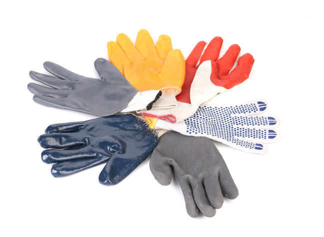 Various types of gloves