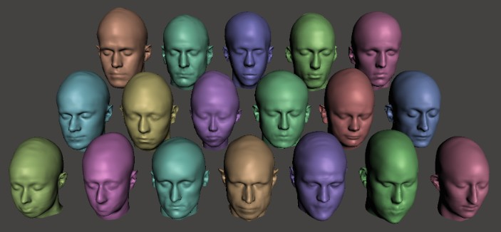 Lots of different shaped human heads