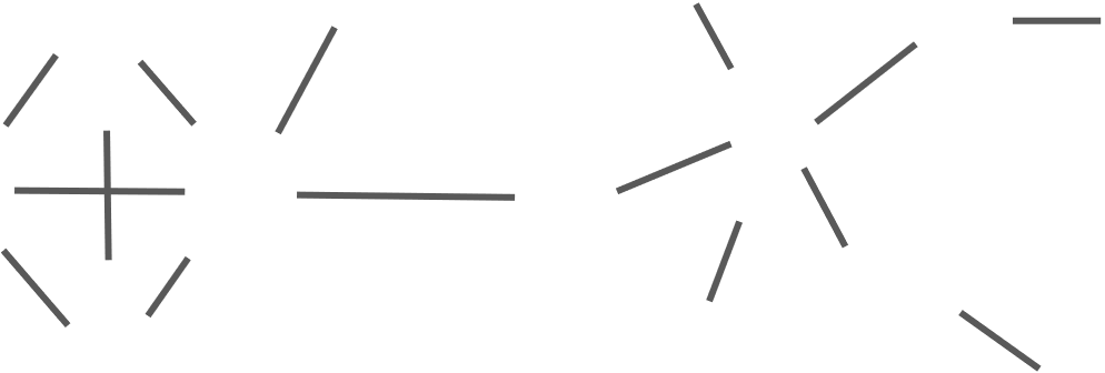 Lines which stand for network's edges