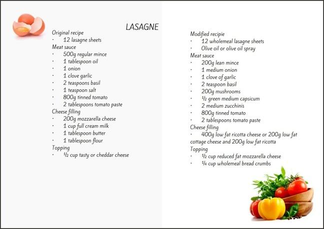 modified lasagne recipe