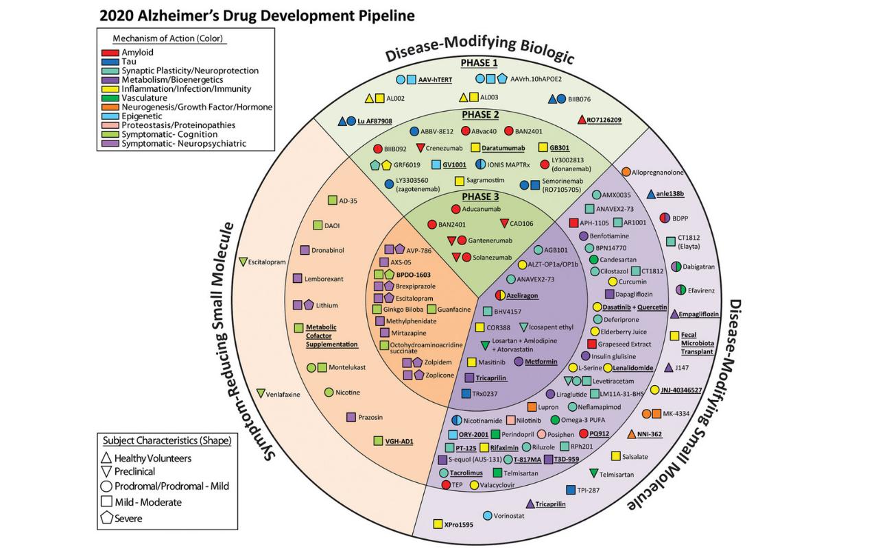 Alzheimer's disease drug development pipeline 2020