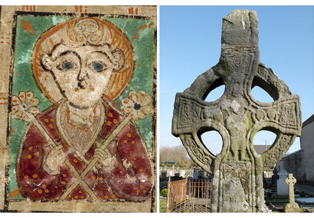 Figures 6 and Fig 7, image of Jesus Christ from the Book of Kells and image of Jesus Christ on a high cross, respectively