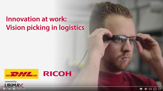 YouTube: Vision Picking at DHL - Augmented Reality in Logistics