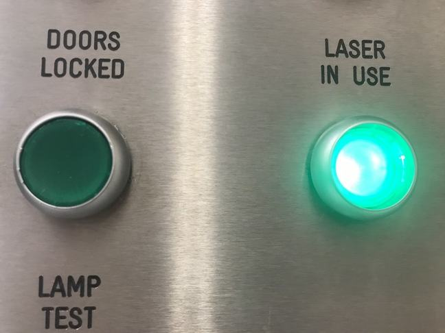 Laser in use light