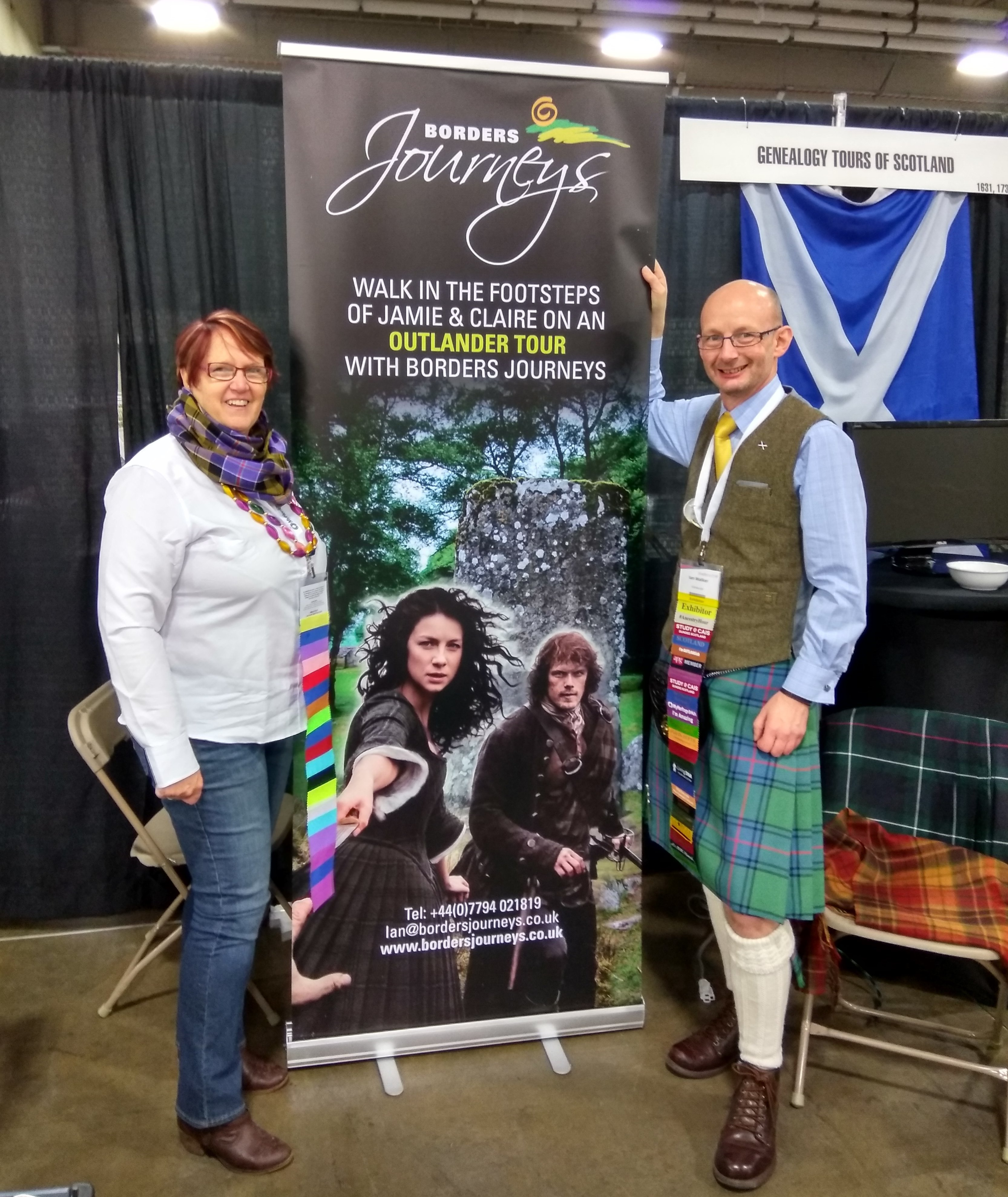 Scottish colleagues in their stand at RootsTech