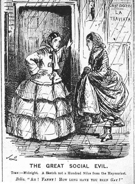 'The Great Social Evil', Punch 33 (10 January 1857). Public domain.