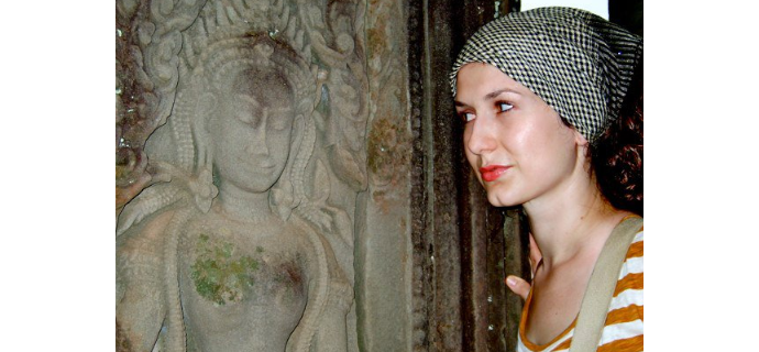 Tess Davis in Cambodia