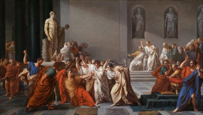 Picture Caesar's death