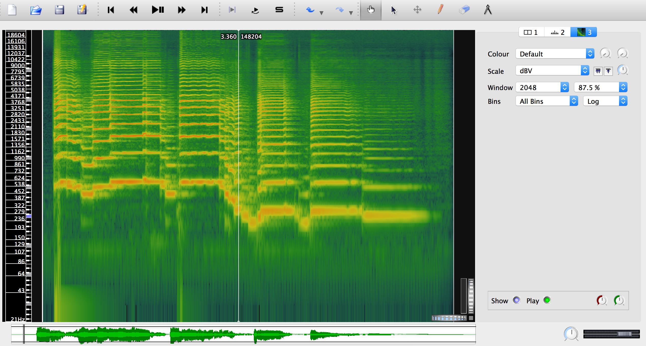 Spectrogram of saxophone melody