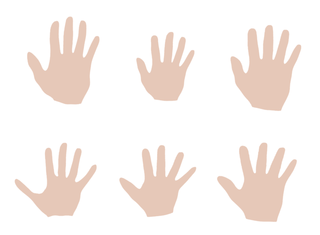 Samples from a hand model