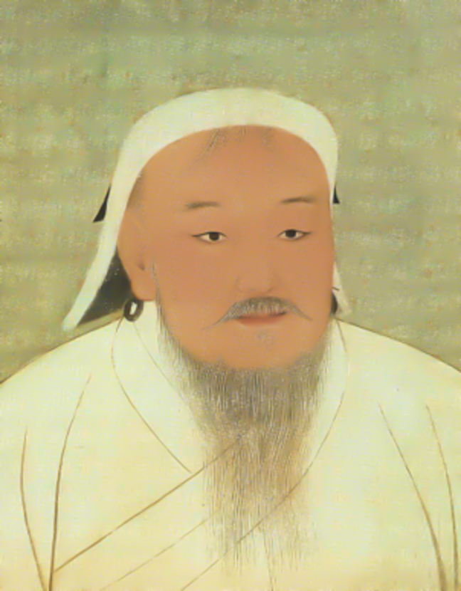 Colour portrait of Genghis Khan (ca 1206-1227)