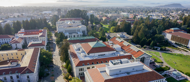 Landscape view of University of California, Berkeley