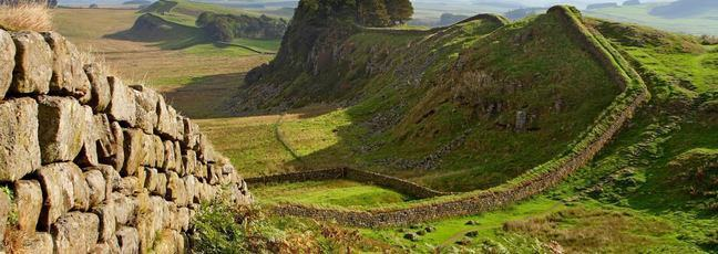 Hadrian's Wall - the Roman Empire's most heavily fortified frontier. Copyright Newcastle University