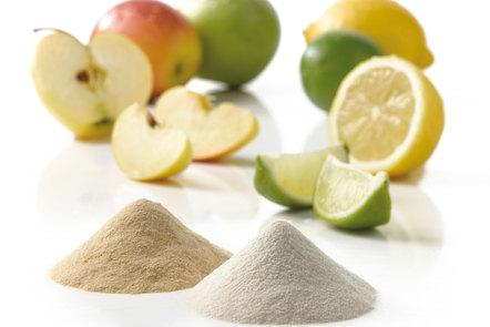 Pectin next to lemons, limes and apples