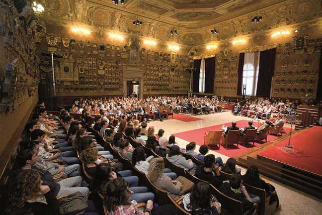 Photo of the Great Hall  at the University of Padova