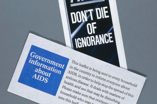 A series of pamphlets warning against HIV/AIDS